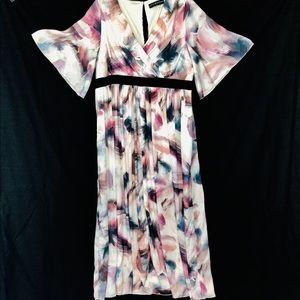 Little Mistress Dress Size 20 Flare Sleeves Maxi